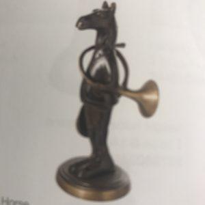 Statuette bronze cheval