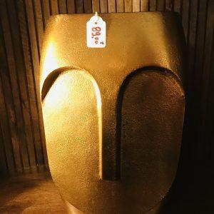 Vase doré visage petit modèle