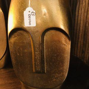 Vase doré visage grand modèle